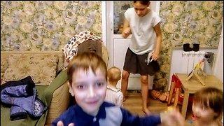 Children dance. Party.