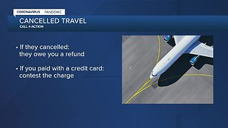 Tips for getting a refund for cancelled travel