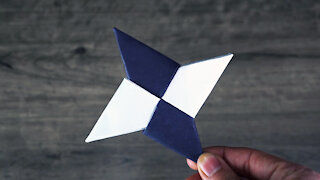 How To Make a Paper Ninja Star Easy
