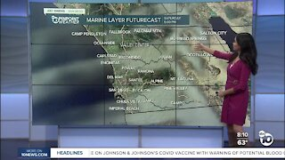 ABC 10News Pinpoint Weather for Sat. Apr. 24, 2021