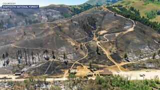 Assessing the damage after wildfire burns through Soldier Mountain Resort