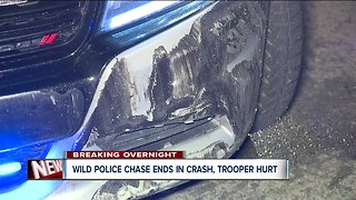 Police chase through N.E. Ohio sends a trooper to the hospital