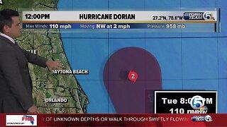 Noon Tuesday Dorian update