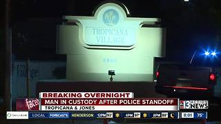 Man in custody after overnight standoff with police