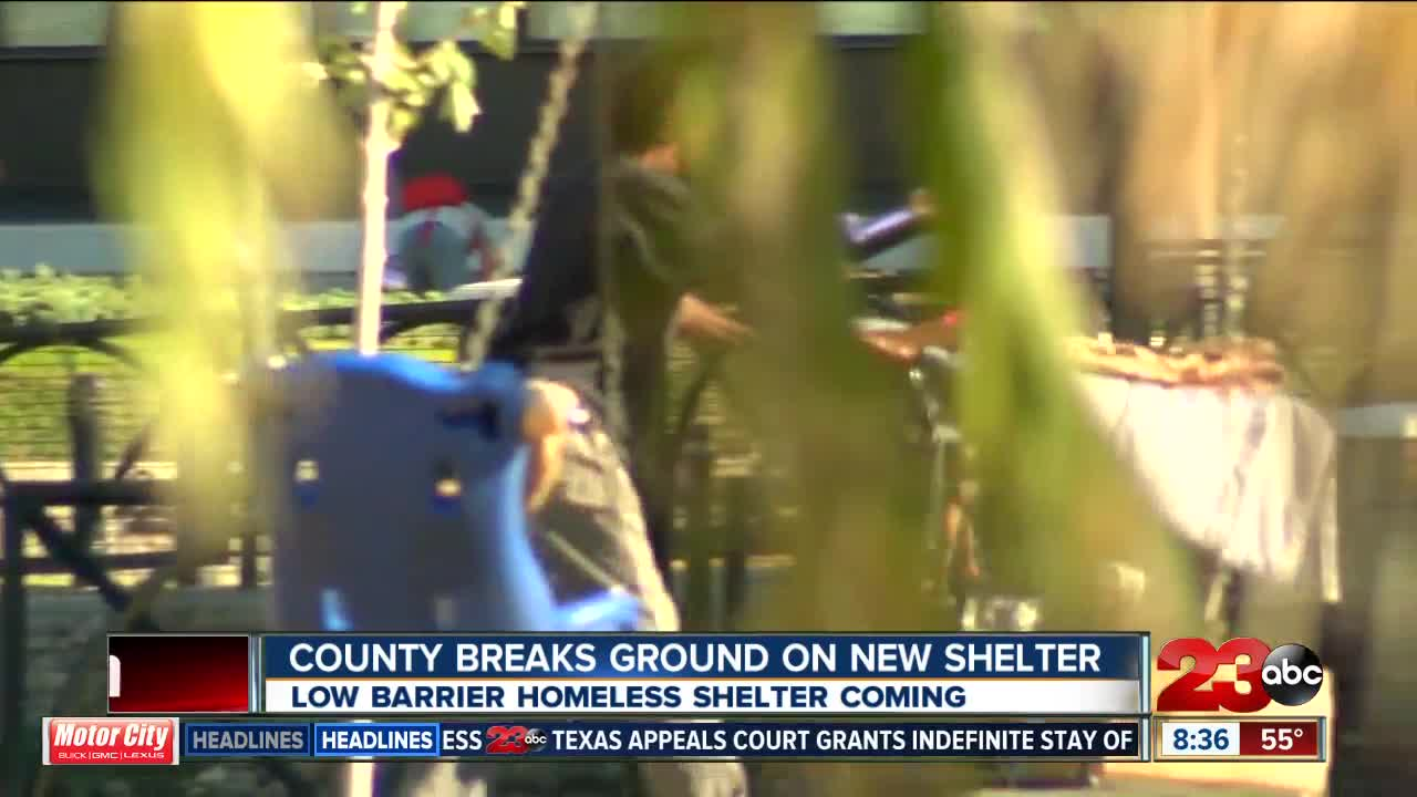 County breaks ground on new low barrier homeless shelter