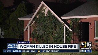 Woman killed in house fire in Phoenix
