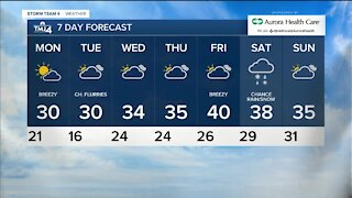 Chilly and windy Sunday night ahead