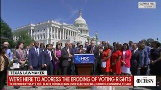 Texas Democrats Start Singing At Press Conference