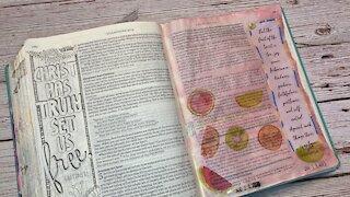 Bible Journaling Galatians 5:22-23
