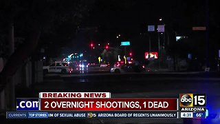 At least 1 dead after Phoenix shooting incidents