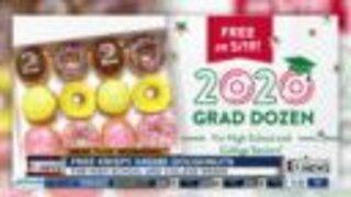 Free Krispy Kreme doughnuts for 2020 graduates