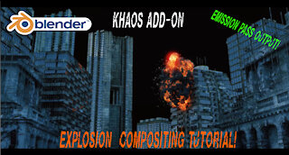 Blender 3D Explosion compositing: Using the emission pass