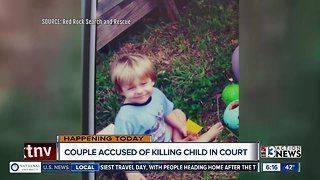 Couple accused of killing child due in court