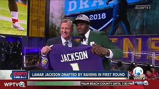 Lamar Jackson drafted No. 32 overall by Baltimore Ravens