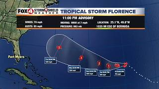 Tropical Storm Florence Update PM 9-6