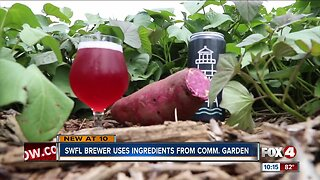 Local brewery uses ingredients from community garden