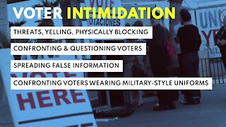 What is voter intimidation?