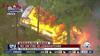 RV engulfed by flames in Loxahatchee