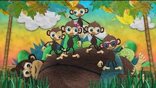Five Little Monkeys Nursery Rhymes Kids Songs Video For Kids