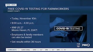 Free Covid testing for farmworkers in Hendry County
