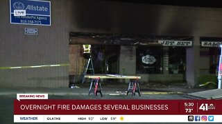 Fire damages businesses in Raytown