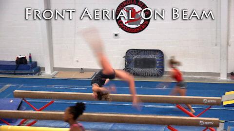 Front Aerial on Beam | Training on Balance Beam