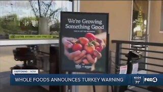 Whole Foods turkey warning