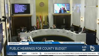 Proposed San Diego county budget discussion