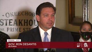 Gov. Ron DeSantis says restaurants won't be shutdown in Florida during visit to West Palm Beach