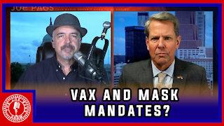 Georgia Governor Kemp Discusses Vaccine Mandates and Masks