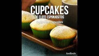 Fluffy Corn Cupcakes