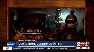 Jenks couple homeless after fire destorys home