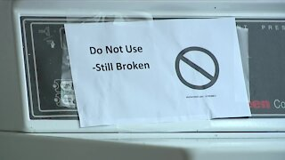 Elderly residents speak out about broken washing machines at Edgewater apartment complex