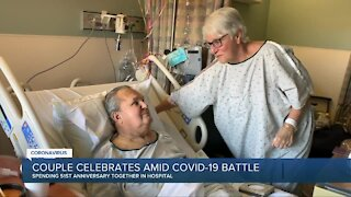 Couple celebrates 51st anniversary amid COVID-19 battle
