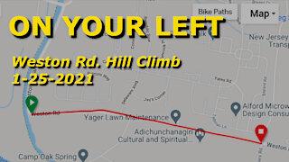 Riding the Weston Road Hill Climb