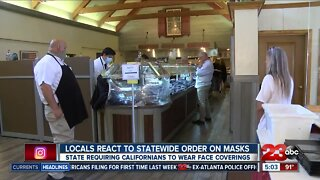 Locals react to statewide order on masks