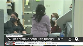 County officials continue to count ballots