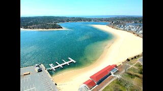 Drone Flight Onset Bay Massachusetts
