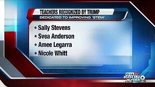 President Trump salutes four Tucson-area teachers
