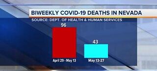 Biweekly COVID-19 deaths in Nevada