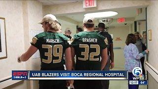 UAB Football Visits Boca Raton Regional Hospital