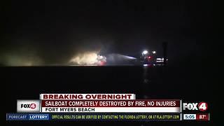 Boat fire near Fort Myers Beach