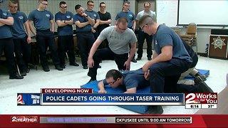 Police cadets go through Taser training