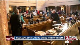 Nebraska legislature opens with optimism
