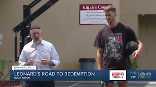 Myers Leonard visits Boca Raton Synagogue