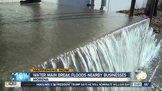 Water main break floods businesses
