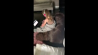 School closure brings little girl and her dog together
