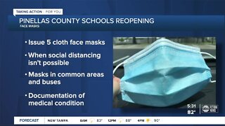 Pinellas Schools to require students and staff to wear masks, according to 'ReOpening Plan' draft