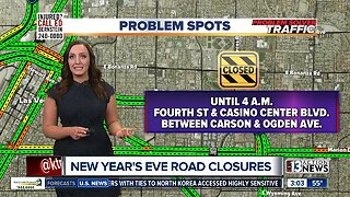 New Year's Eve road closures
