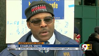 Furloughed government employees protest shutdown